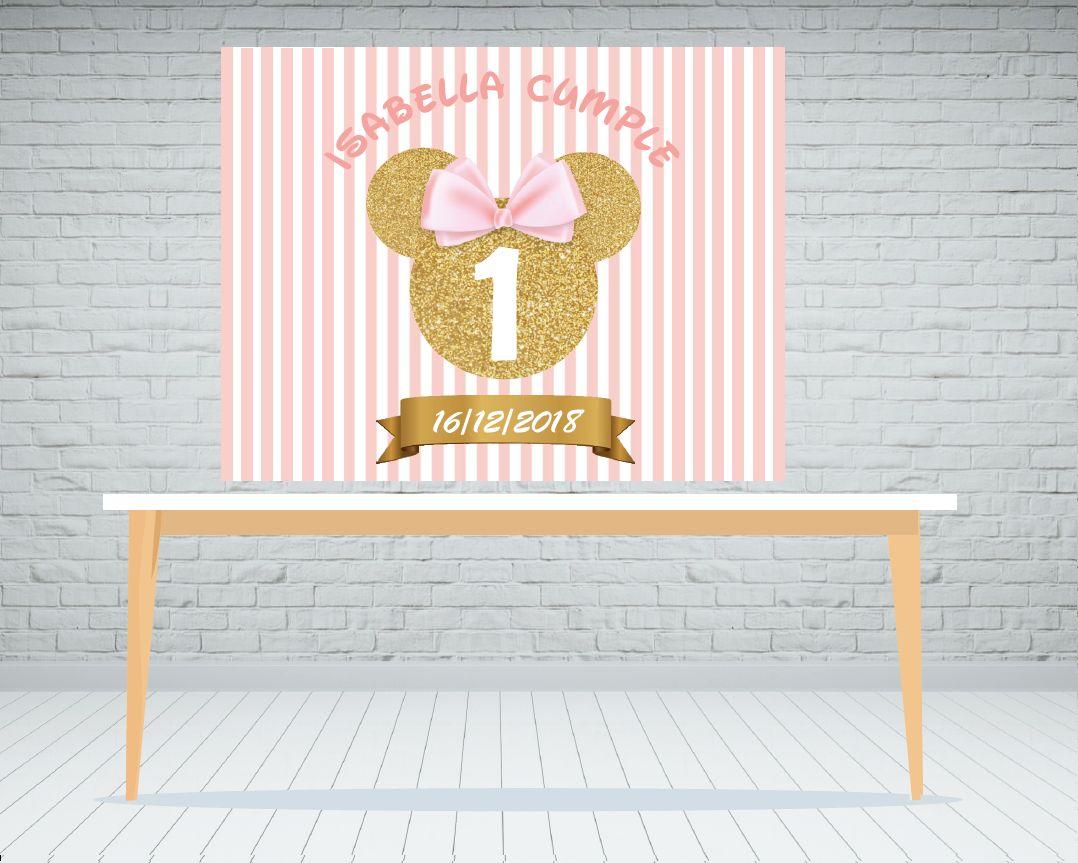 Fondo de mesa dulce Minnie
