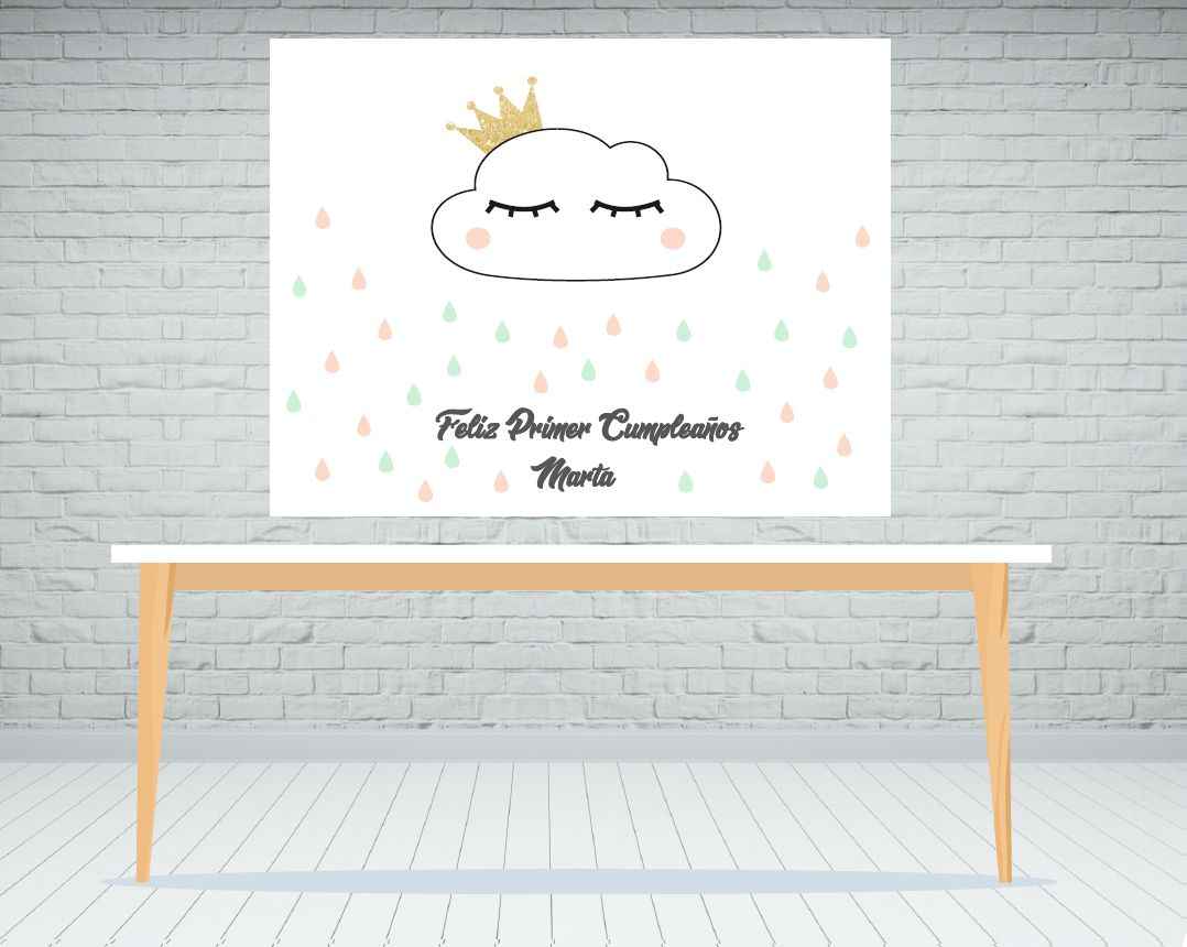 Fondo de mesa dulce Nube