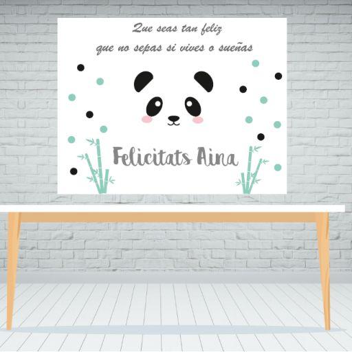 Fondo de mesa dulce Panda