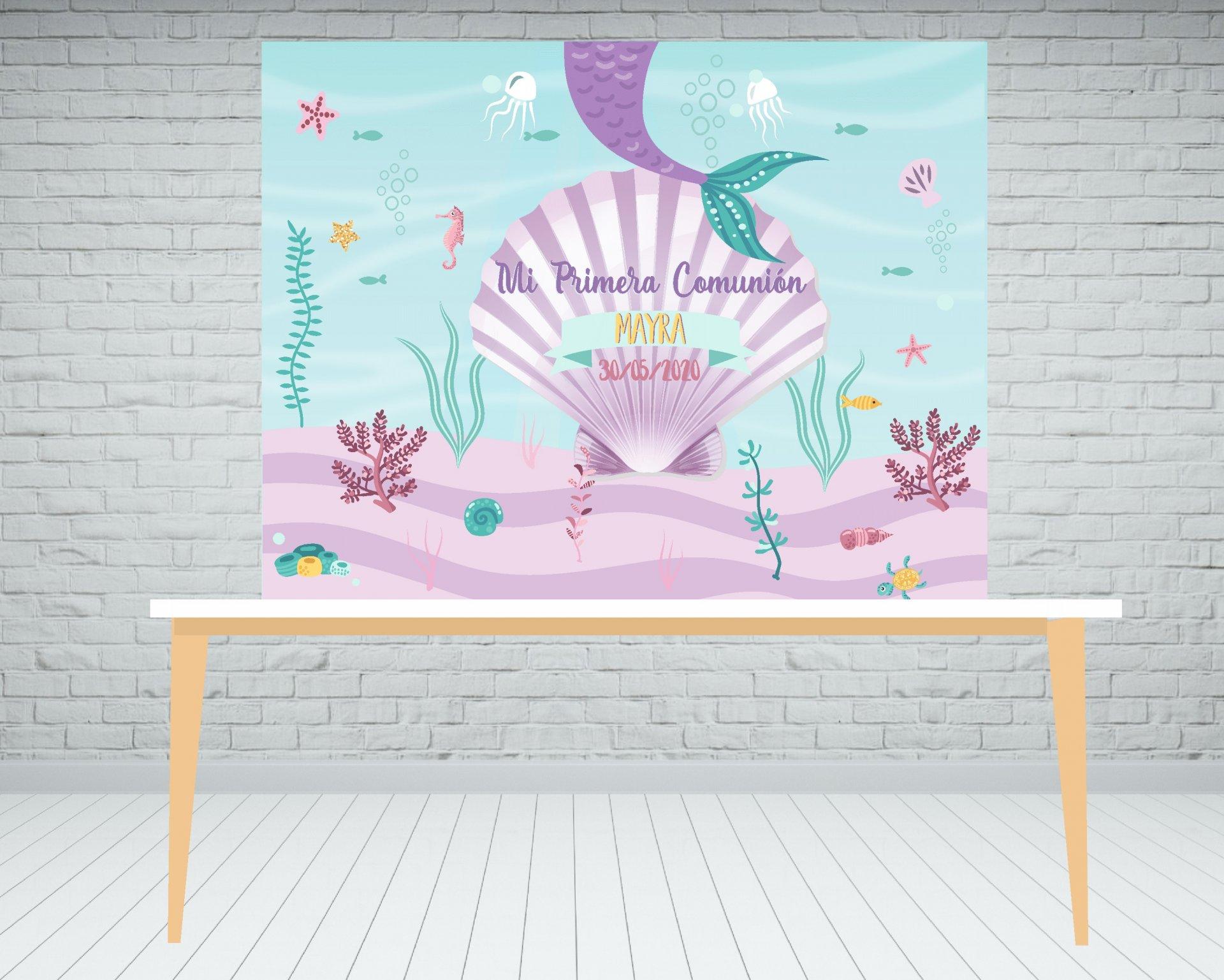 Fondo de mesa dulce sirenita