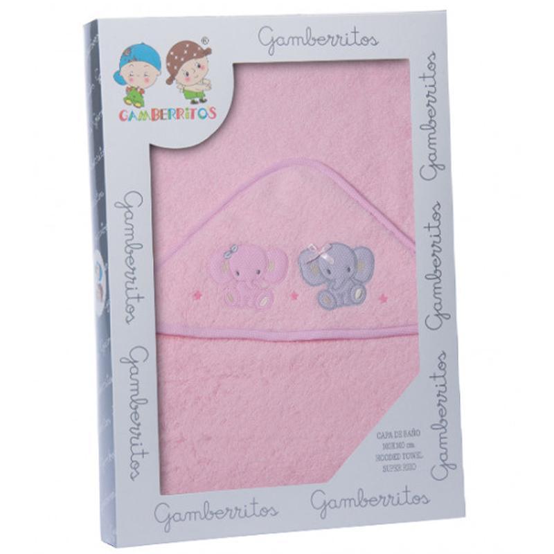 Capa de baño GAMBERRITOS elefantes rosa