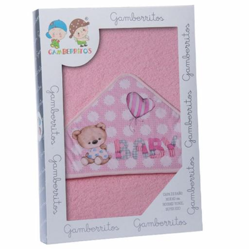 Capa de baño GAMBERRITOS osito baby rosa