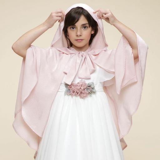 Capa de Ceremonia y Comunión AMAYA 2021 modelo 537813H rosa