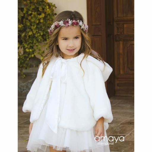 Capa para niña de AMAYA ceremonia pelo crudo