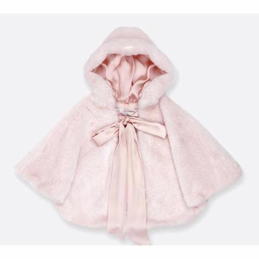 Capa para niña de AMAYA ceremonia pelo rosa [1]