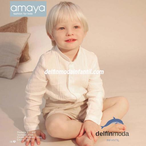 Conjunto para bebe Amaya Ceremonia 2021 para niño de lino