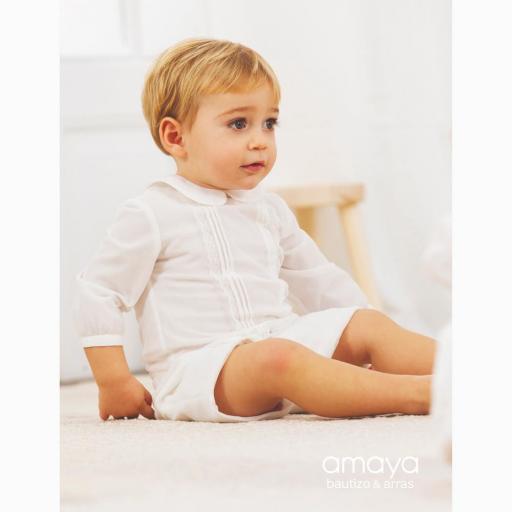 Conjunto para bebe niño AMAYA bautizo modelo 532085 [1]