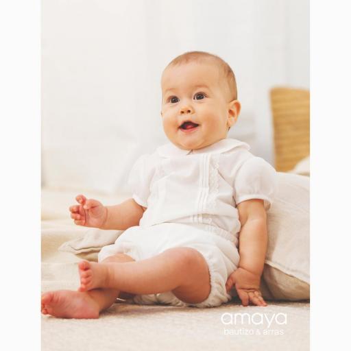 Conjunto para bebe niño AMAYA bautizo modelo 532084