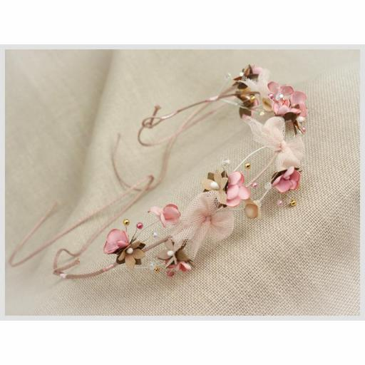 Corona para Comunión y Ceremonia ZOYSAN flores rosa 20290 [2]