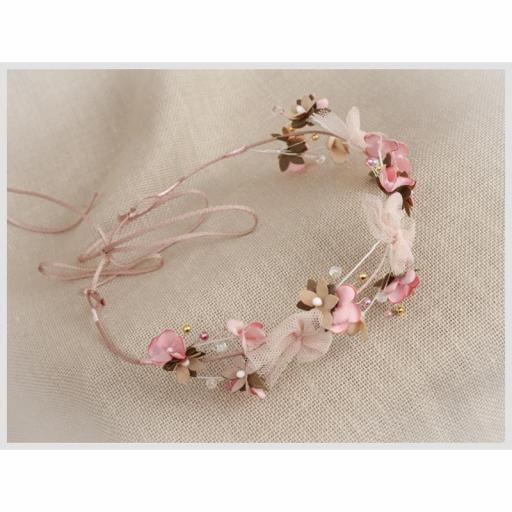 Corona para Comunión y Ceremonia ZOYSAN flores rosa 20290 [3]