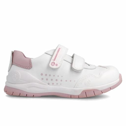 Deportiva de piel BIOMECANICS en blanco-rosa [2]