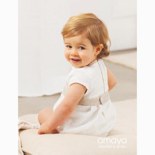 Pelele bautizo bebe niño AMAYA lino 532090 [1]