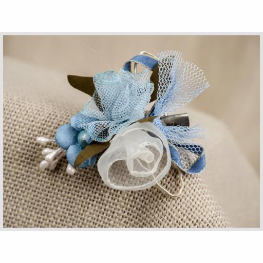 Tocadito mini de niña ceremonia ZOYSAN azul 18049