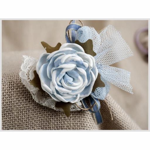 Tocadito mini de ceremonia para niña  ZOYSAN flor azul 18058 [2]