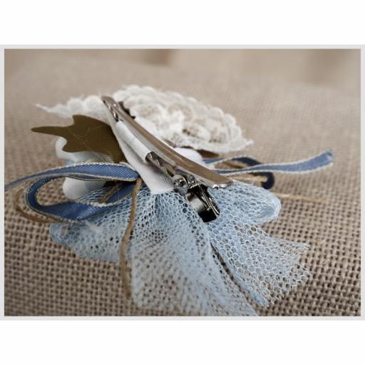 Tocadito mini de ceremonia para niña  ZOYSAN flor azul 18058 [3]