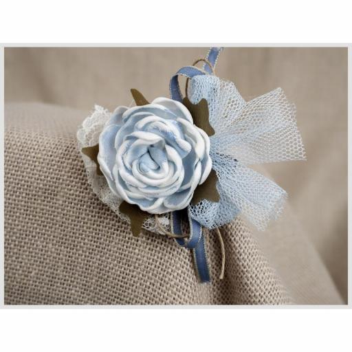 Tocadito mini de ceremonia para niña  ZOYSAN flor azul 18058 [1]