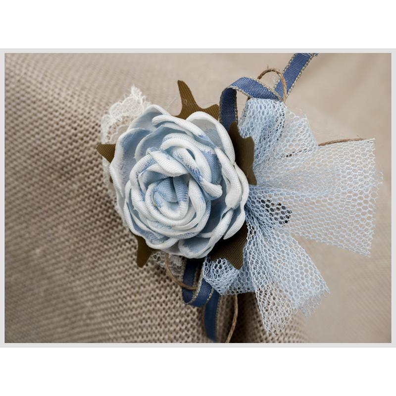 Tocadito mini de ceremonia para niña  ZOYSAN flor azul 18058