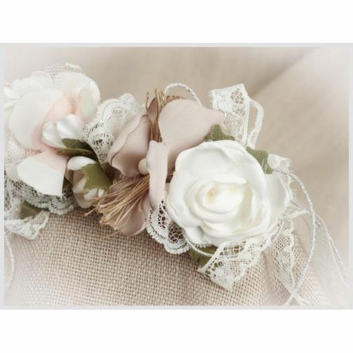 Tocado Prendido Comunión y Ceremonia ZOYSAN flores crudo 12580 [1]