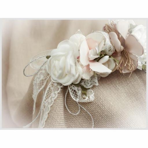 Tocado Prendido Comunión y Ceremonia ZOYSAN flores crudo 12580 [2]