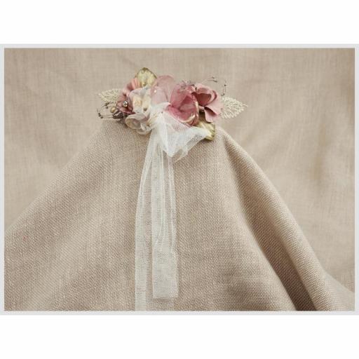 Tocado Prendido Comunión y Ceremonia ZOYSAN flores rosa12642 [3]