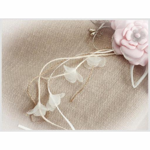 Tocado Prendido Comunión y Ceremonia ZOYSAN flores rosa 12670 [3]