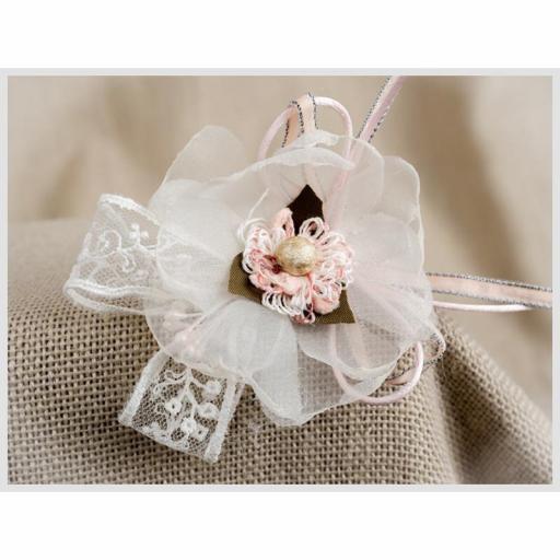 Mini tocado de niña Ceremonia ZOYSAN flor 18057