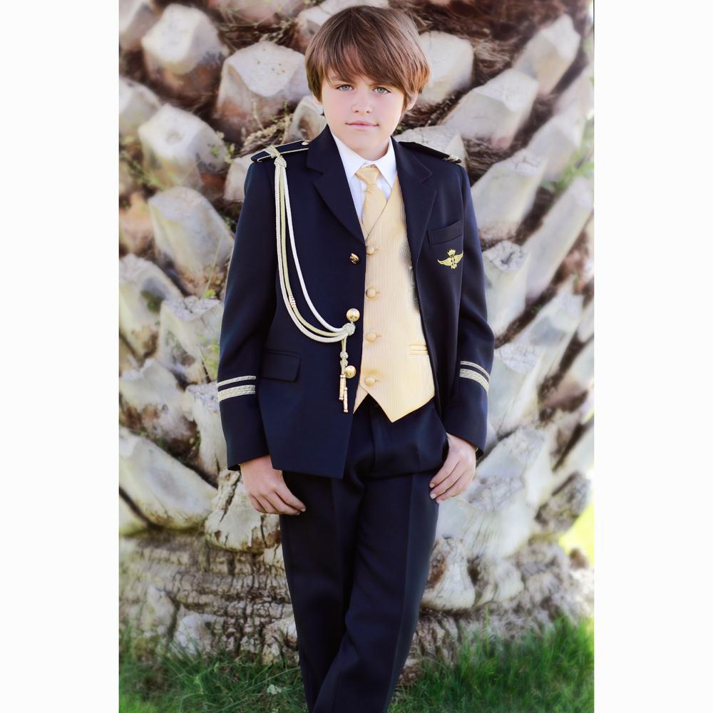 Traje de Comunión 2022 Almirante solapa  dorado