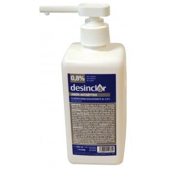 DESINCLOR Digluconato de Clorhexidina con Jabón (Dosificador) 500 ml.