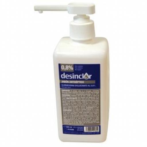 DESINCLOR Digluconato de Clorhexidina con Jabón (Dosificador) 500 ml. [0]