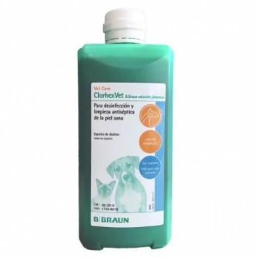 CLORHEXVET Solución Jabonosa 500 ml. B. BRAUN