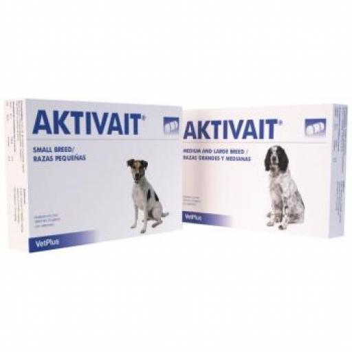 AKTIVAIT Anti Envejecimiento Cerebral Perros 60 Cápsulas
