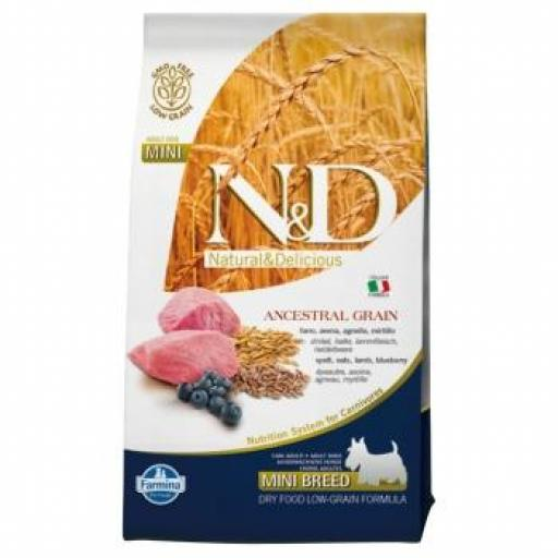 Farmina N&D Low Grain Adult Dog CORDERO & ARÁNDANO MINI