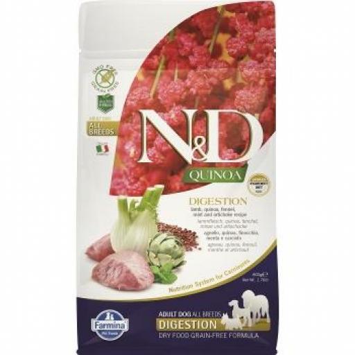 Farmina N&D Grain Free QUINOA Dog Digestion CORDERO