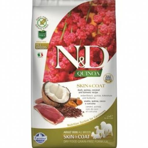 Farmina N&D Grain Free QUINOA Dog SKIN COAT PATO