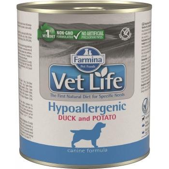 Farmina Vet Life Dog Hypoallergenic Pato Lata 6 x 300 grms.