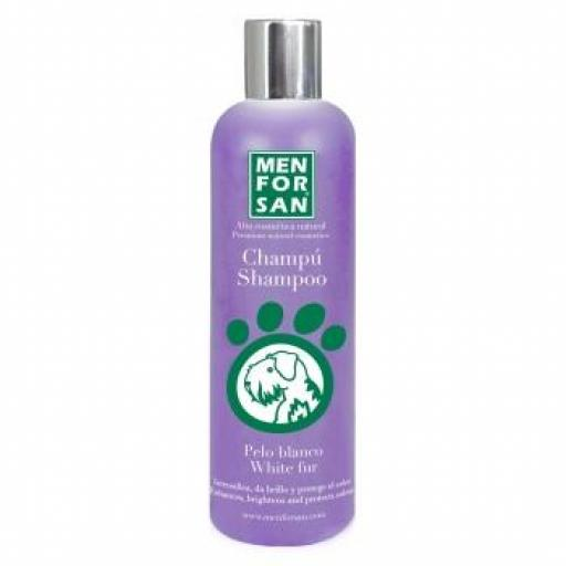 Menforsan Champú Para Perros Pelo Blanco