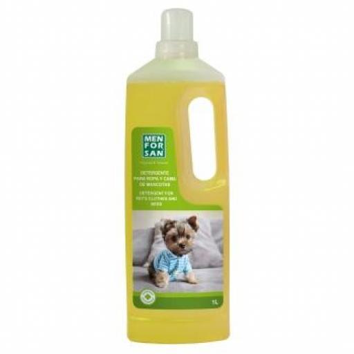 Menforsan Detergente Gel Ropa Y Cama Mascotas 1L