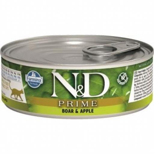 Farmina N&D Grain Free Prime Cat (12 latas x 80 grms.)