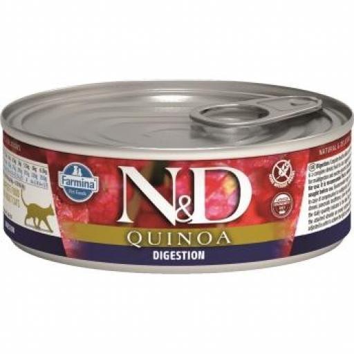 Farmina N&D Quinoa Cat Digestion (12 Latas X 80 grms.)