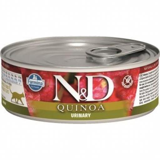 Farmina N&D Quinoa Cat Urinary (10 x 80 grms.)