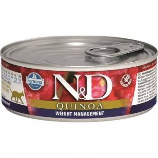 Farmina N&D Quinoa Cat Weight Management (10 Latas x 80 grms.) [0]