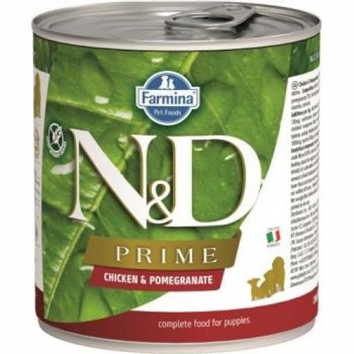 Farmina N&D Grain Free Prime PUPPY Pollo 6 Latas X 285 G