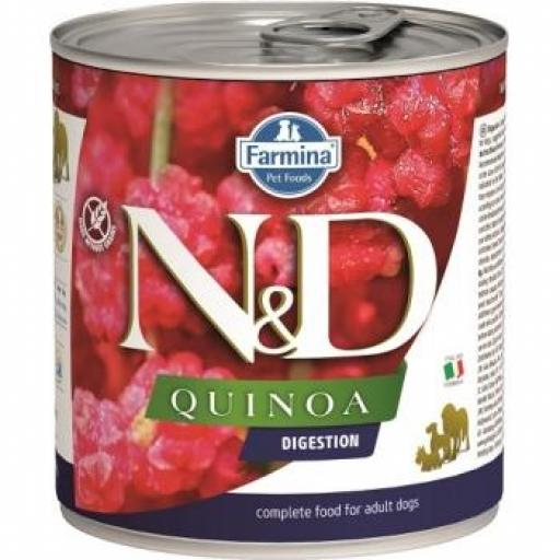 Farmina N&D Dog QUINOA DIGESTION 6 Latas X 285 G