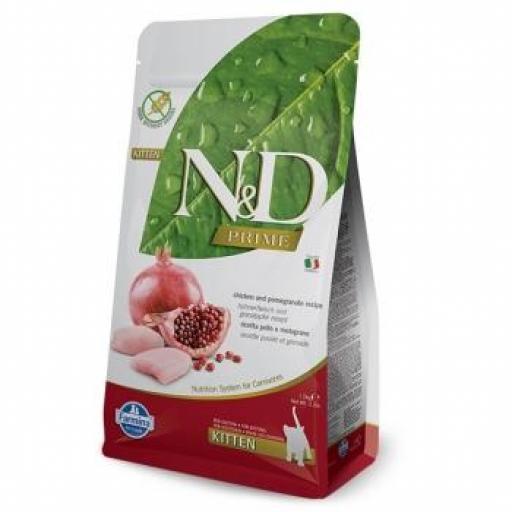 Farmina N&D Prime Grain Free Kitten Pollo & Granada
