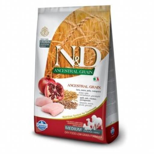 Farmina N&D Low Grain Dog Adult Pollo y Granada MEDIUM/MAXI
