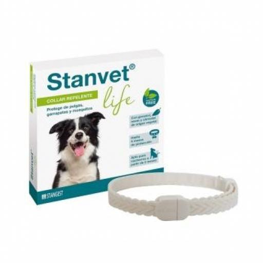 Collar Stanvet Life Antiparasitario Repelente Natural Para Perros