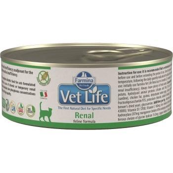 Farmina Vet Life Feline Renal Lata 12 x 85 grms.