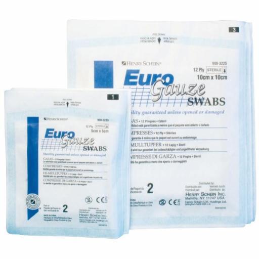 Gasas Estériles EURO GAUZE 100 unidades