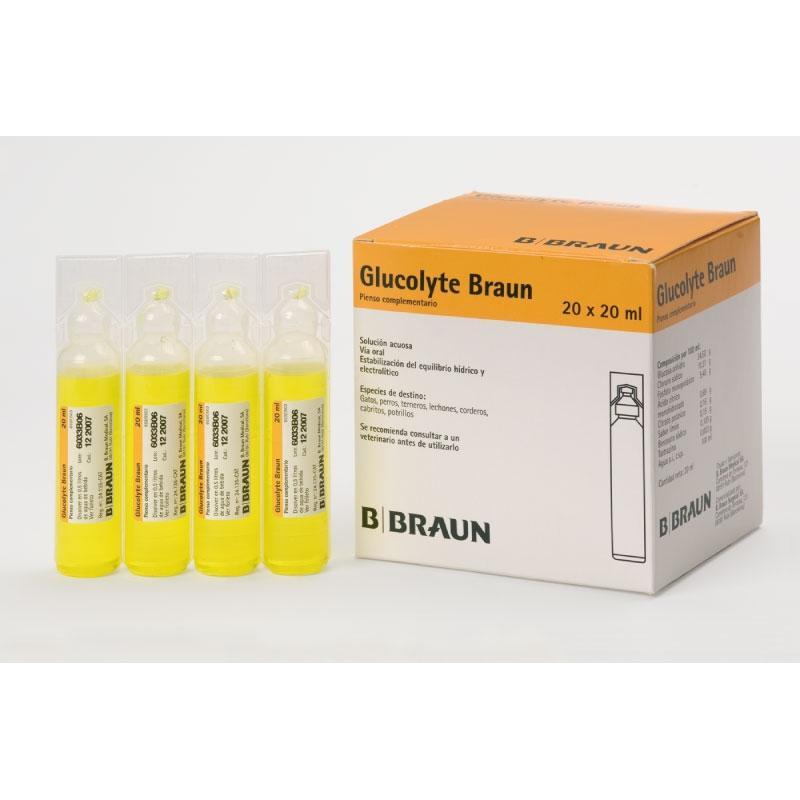 GLUCOLYTE 20 Ampollas x 20 ml. Glucosa & Electrolitos