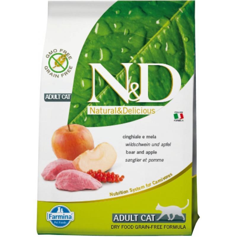 Farmina N&D Grain Free Adult Feline Jabalí